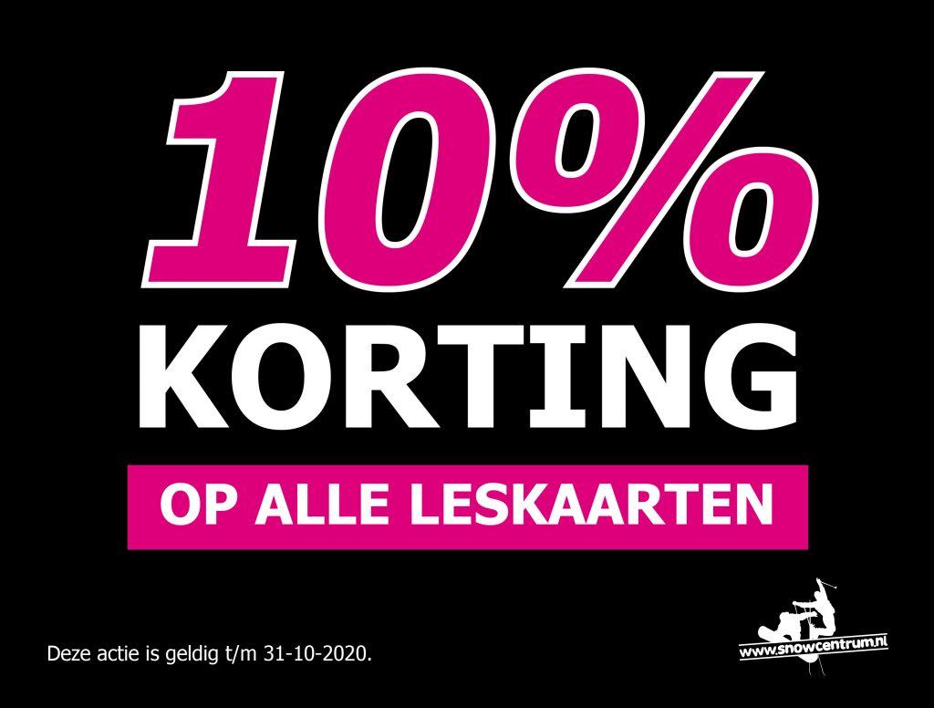 10% korting op alle leskaarten